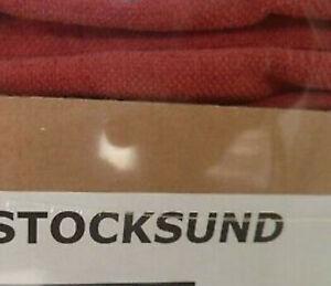IKEA Stocksund 2 Seat Sofa SLIPCOVER Ljungen Light Red LOVESEAT COVER Velvet