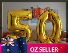 Gold Foil Helium number balloon - 50th Brithday Party 100cm / 40 inch AUS STOCK
