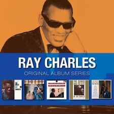 Ray Charles ORIGINAL ALBUM SERIES Box Set AT NEWPORT Genius Of NEW SEALED 5 CD