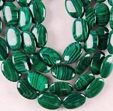 13X18mm Green Malachite Gems Oval Loose Bead 15'' cc366
