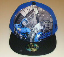 Captain America New Era Cap Hat Fitted 7 3/8 Panel Tone Out Logo DC 59Fifty New