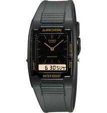 Casio AQ47-1E, Analog/Digital Combo Watch, Chronograph, Black Resin Band, Alarm