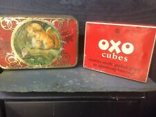 ANTIQUE ADVERTISING TINS. SQUIRREL CONFECTIONS.OXO.