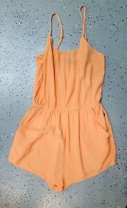 💜MINKPINK Summer Strappy Elastic Waist Romper Apricot Size L Buy7=FreePost L867