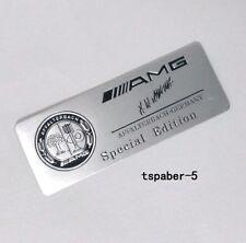 Aluminium AMG Emblem Badge Nameplate Car Body Side Skirts Rear Trunk Sticker