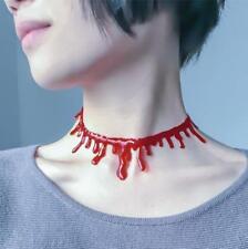 Halloween Dripping Blood Choker Women Fancy Dress Necklace Costume Party Gift