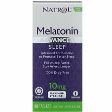 Natrol Avanzado Sleep Melatonina - 10MG- 60 Tabletas