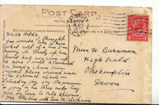Genealogy Postcard - Burnman - Highfield - Okehampton - Devon - 3044A