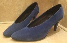 Ladies Women's Size 7 Cobalt Blue Amari High Heel Shoe 8cm Heel
