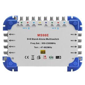 MS98E 9 x 8 Satellite Multiswitch for FTA Receiver