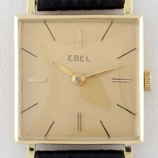 18k Yellow Gold Ebel Women's Hand-Winding Watch w/ Leather Band