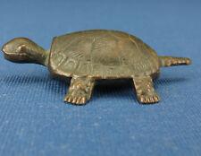 Metallfigur - Schildkröte - brüniert - Tiere 1978 - Ü-Ei Figur