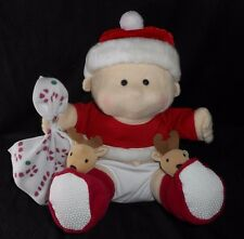 "12"" SOFT TOY CONCEPTS CHRISTMAS BLANKY BABY BOY DOLL RATTLE STUFFED ANIMAL PLUSH"