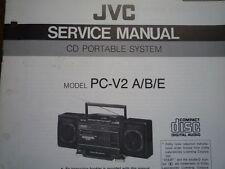 JVC PC-V2 MF sistema CD Portatile Manuale servizio riparazione diagramma di cablaggio parti