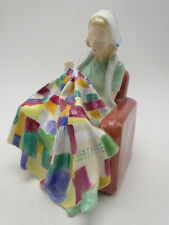 Royal Doulton Woman Figurine The Patchwork Quilt Hn1984 6in hand painted porc.