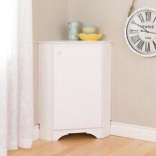 Prepac WSCC-0603-1 Elite White Corner Storage Cabinet NEW