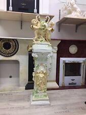 Säule Barock Style Dekosäule Griechische Säulen Vase Barock Engel 1073+0867 Set