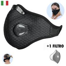 Protezione Anti Inquinamento Antipolvere e Antismog - Con Filtro - Lavabile Nero