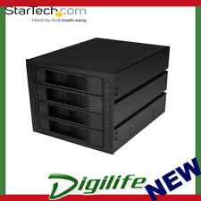 "StarTech 4 Bay 3.5"" SATA/SAS Backplane for 3 5.25"" Bays HSB43SATSASB"