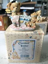 Cherished Teddies Enesco 626066 Betty Baby Bear In Bathtub Vintage 1993