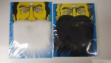 White And Black Beard With Elastic Moustache Costume Christmas Santa Fake Facial