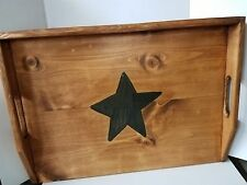 Primitive Stove Cover Noodle Board Hand Crafted Walnut w/Black Single Star