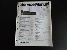 Original Service Manual  Technics Receiver SA-GX470