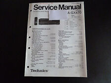 ORIGINALI service manual TECHNICS Ricevitore sa-gx470