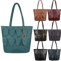 Large Leather Bag Handbag Designer Leaf Style Work Tote Shopper Fashion