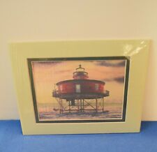 """Harbour Lights Watercolor Print of """"Seven Foot Knoll, Md"""" w/binder. Mib"""