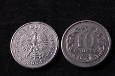 Poland Polish 10 Grosz 2004 Republic Coin zł Eagle gr Groszy