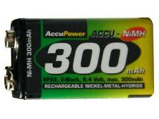 48-Pack 9 Volt AccuPower NiMH Batteries (300 mAh)