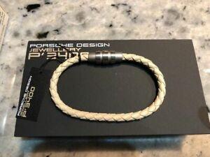 Porsche Design Bracelet Grooves stainless steel,white kit 18cm  21,5cm *NEW*