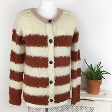 Maison Scotch Wool Alpaca Cardigan 10 Uk M Colour Block Knitted  Collarless