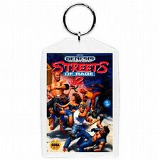 Sega Genesis STREETS OF RAGE 2  Video Game Box Cover KEYCHAIN   NEW !!!