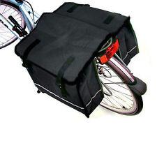 DOUBLE BICYCLE CYCLE PANNIER BAG WATER RESISTANT NYLON REAR BIKE RACK CARRIER