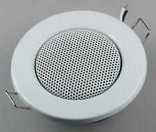 Decken-Einbaulautsprecher 8cm Ø, 3 Watt, 8 Ohm, Einbautiefe 25mm, rund, weiß