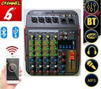 Mixer Console 6 Canali PROFESSIONALE Microfono USB MP3 PIANOBAR DJ KARAOKE F6 BT