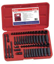 """Genius 1/4"""" unidad 55 Piezas Métricas y SAE Standard & profundo impacto Socket Set"""