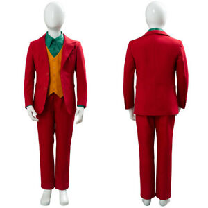Kid's 2019 DC Joker Joaquin Phoenix Arthur Fleck Cosplay Costume Child Outfit