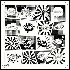 MoYou Square Stamping Image Plate 479 Urban Style, Comics, Full Design Manicure