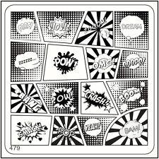 Placa de imagen Estampado Cuadrado Moyou 479 estilo urbano, cómics, Completo Diseño Manicura