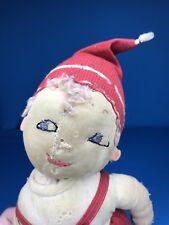 Antique Stockinette Folk Art Handmade 15� Cloth Rag Doll Boy