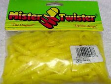 """Mister Twister 3"""" 100 Pack Yellow Twister Tails"""