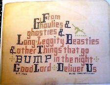 Reprint Ghoulies & Ghosties & Long Leggity Beasties Old English Litany Halloween