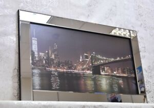 Bridge Brooklyn on Mirrored Frame Wall Mirror100x60cm home decor/wall Art