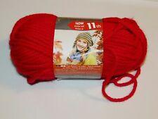 1 Skein Bernat Softee Chunky Yarn 057355351561 Berry Red Bulky