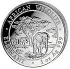2012 1 Oz Silver 100 Shillings Somalian AFRICAN ELEPHANT Coin.