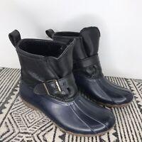 Sperry TopSider X J Crew Sz 6 Wool Lined Waterproof Rain Duck Boots