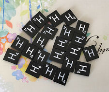10 (TEN) Letter H, Black  Scrabble Tiles Letters, Individual, A to Z in Stock!